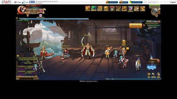 Anime Pirates mmorpg game